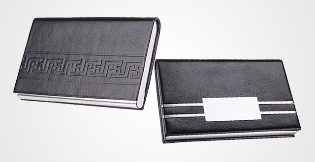 professional business card holder leather credit card case with magnetic stainless steel closure - Best Card Holder Wallet